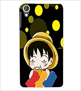 PrintDhaba Cartoon D-5986 Back Case Cover for HTC DESIRE 820 (Multi-Coloured)