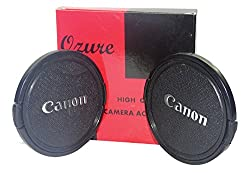 Ozure SECLCC72A Lens Cap(Black + Silver Embossed, 72 mm) Set of 2Pc