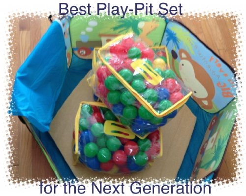 """36"""" X 36"""" Pop-Up Play-Ball Pit With A Special 1"""" Memory Foam Comping Mat And 200 Next Generation Playsoftballs - Phthalate Free Pit Balls Packed In Zipper Tote Bags. Each Ball Measures 2.4"""", A Great Size For All Ages. Designed Good Ages Less Than One Year"""