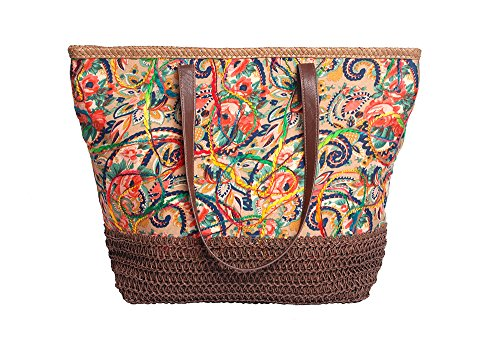 Mike & Mary Floral Printed Multicolor Shoulder Shopping Tote Handbag Summer Beach Tote (Kenmore Progressive 100 Vacuum compare prices)