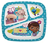 Zak Designs Doc McStuffins 3-Section Plate, Set of 6