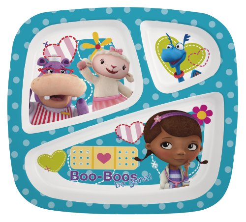 Zak Designs Doc McStuffins 3-Section Plate, Set of 6 - 1