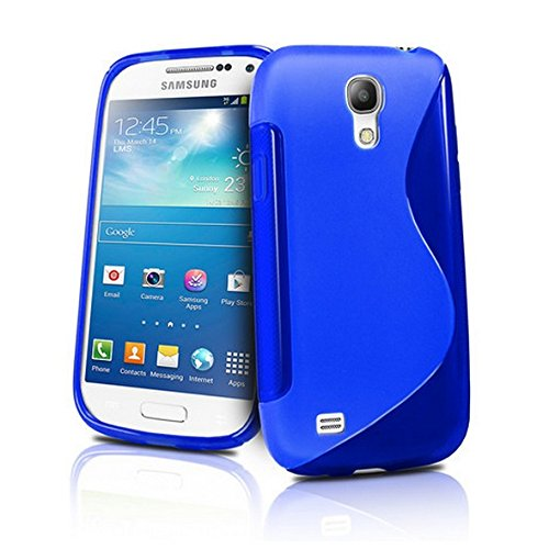 Cable And Case Rugged Shock Absorbent Slim Samsung Galaxy S4 Case Cover - Blue (Kirby Galaxy S5 Case compare prices)