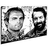 Bud Spencer und Terence Hill Bild fertig auf Keilrahmen ! Pop Art Gemälde Kunstdrucke, Wandbilder, Bilder zur Dekoration – Deko. Film / Movie / Tv Stars Kunstdrucke