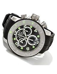 Invicta 1063 Mid Size Sea Hunter Stainless Steel Swiss Made Quartz Chrono Retrograde Poly Strap Watch