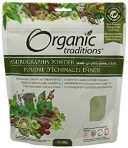 Organic Traditions Organic Powder, Andrographis Kalmegh, 7 Ounce (Pack of 12)