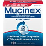 Mucinex Maximum Strength Extended-Release Bi-Layer Tablets, 28 Count