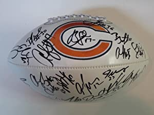 2012 Chicago Bears Team Signed Autographed Full Size Logo Football Brandon Marshall ,... by Fotoball