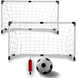 K-Roo Sports-Youth Soccer Goals with Ball and Pump (Set of 2)
