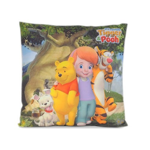 Maxi & Mini, MOTIVO: WINNIE THE POOH-CUSCINO DECORATIVO 40 X 40 CM-IDEA REGALO LICENZA DISNEY ARREDAMENTO CAMERA PER BAMBINI