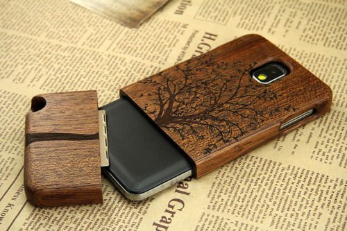 Dsrlucky Hot Brand New Natural Tree Wood Bamboo Wooden Cover Case for Samsung Galaxy Note3 III N9000