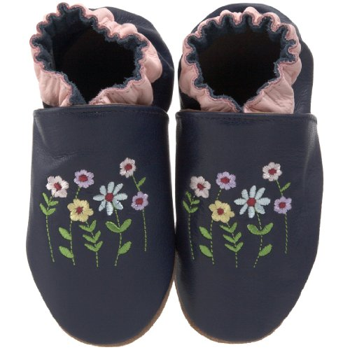 Robeez Soft Soles Kids' Stemmed Flowers Crib Shoe