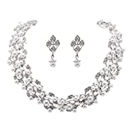 Bridal Wedding Jewelry Set Rhinestone…