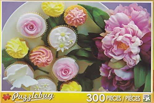 Puzzlebug 300 Piece Puzzle ~ Cupcake Floral Delight - 1