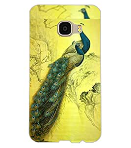 ColourCraft Beautiful Peacocks Design Back Case Cover for SAMSUNG GALAXY C5