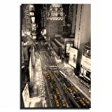 Canvas Culture - New York City Taxis Cityscape Canvas Print Original 75 x 50cm