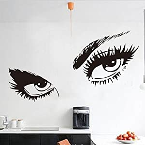 Hepburn's Sexy Eyes DIY Removable Art Vinyl Quote Wall Sticker Decal Mural Home Room D¨¦cor by fulldream