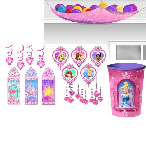 Disney Very Important Princess Dream Party Decorations Pack Kit Including Ballon Drop, Room Kit And 16Oz. Cup front-1041938