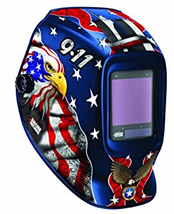Shark 14263 Patriotic 9-11 Helmet with 810S Auto Darkening Lenses from Shark Industries