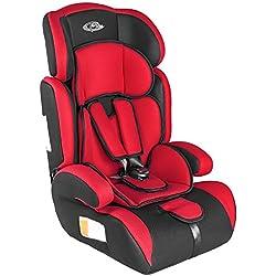 TecTake 400572 - Seggiolino per auto, gruppo I/II/III, 9-36 kg, 1-12 anni, colore: Rosso/Nero