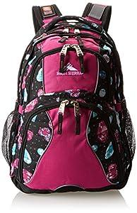 High Sierra Swerve Backpack, Bejeweled/Purple Razz/Black, 19 x 13 x 7.75-Inch