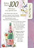 Lilac 100th Birthday Card - 1914 Was A Very Special Year - 2014 Year Card