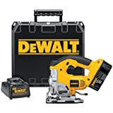 DEWALT DC330K Heavy-Duty 18-Volt Ni-Cad Cordless Top Handle JigSaw Kit