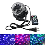 Disco Party Light Ball, 3W DJ Disco Ball Light - Beat with Rhythm 7 Color Changing 15 Keys Remote Control Portable Mini LED Stage Effect Light for Home Party, Disco Bar, Night Club, Pub Stage Light