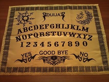 Altar de tela de oro negro, tablero Ouija