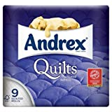 Andrex Gorgeous Comfort Quilts Toilet Tissue 9 per pack case of 1