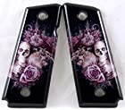 1911 Compact Carry Ambidextrous SPD Acrylic Custom Grips Pink Skulls and Roses