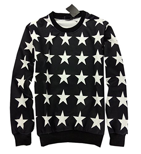 XTX Unisex Stars Print Casual Jogger Sport Sweatpant+Sweater Tracksuits