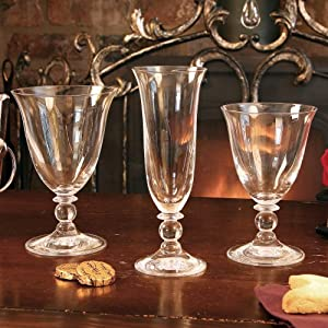 18 pc short stemmed glass gift set 6 wine glasses 6 water glasses 6 champagne flutes - Short stemmed wine glasses uk ...