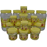Sunpet Transperant PET Jar Set No. FR110600-16 - Set Of 16