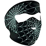 51Vsq3t7RzL. SL160  Zan Headgear Spiderweb Mens Glow in the Dark Full Face Mask Touring Motorcycle Helmet Accessories   One Size Fits Most