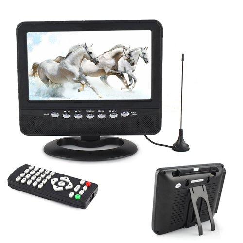 Tingvan Tft Lcd Analog Tv Fm Usb Slot Car Reader Sd Mmc Mobile Dvd Evd 7.5 Inch Eu Plug