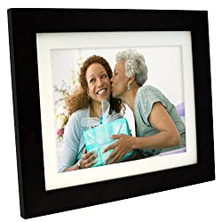 Pandigital PI1056DW 10.4-Inch Digital Picture Frame with 2 Interchangeable and Espresso Frame - 1GB Memory-Black