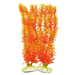Jardin Fish Tank Aquarium Vividly Float Plants Decor Ornament Orange
