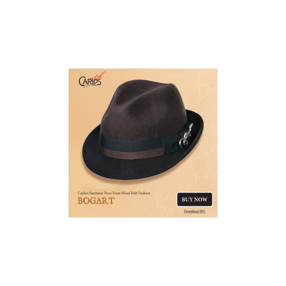 fd014026 Dorfman Pacific Mens Carlos Santana Bogart Fedora Hat (Taupe/Brown,  Large/XL)