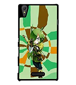 Girl in Fairy Tail Back Case Cover for SONY XPERIA T3