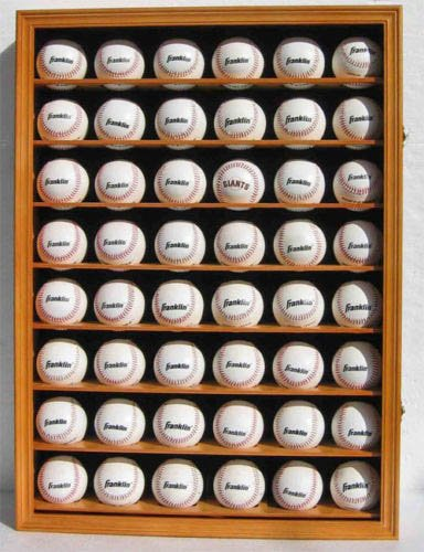Large 48 Baseball Display Case Cabinet With Lock And Uv Protection Door (48 Baseball Display Case compare prices)