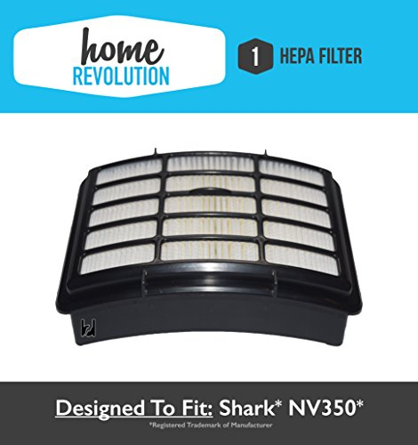 Shark NV350 XHF350 Navigator Lift-Away Compatible HEPA Filter Fits NV351, NV352, NV355, NV356, NV356E, NV357; Home Revolution Brand Replacement (Shark Hepa Filter Nv356e compare prices)
