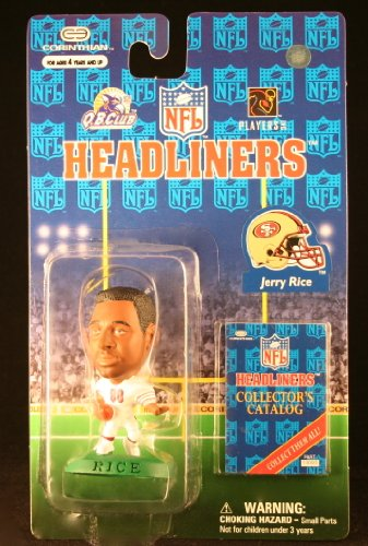 JERRY RICE / SAN FRANCISCO 49ERS * 3 INCH * 1997 NFL Headliners Football Collector Figure - 1