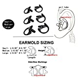 Lsgoodcare 3 Pairs Replacement Earplug Earmold Ear Buds (Left and Right) for Two-Way Radio Headset Acoustic Tube Earpiece Headset Walkie Talkie Earpiece- Including Small, Middle and Large Size, Black