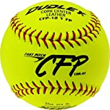 Dudley 12 CFP CFP NFHS Leather Fastpitch Softball - pack of 12 by Spalding