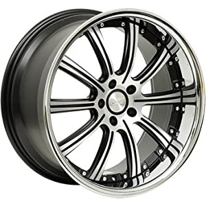 Concept One 748 RS-10 Matte Black Wheel with Machined Lip Finish (20×10″/5x120mm)