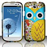 BJ Blu Yellow Owl Hard Case Snap On Protector Cover For Samsung Galaxy S3 i9300