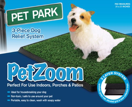 "PetZoom Pet Park Indoor Pet Potty, Large 20""x30""x2"""