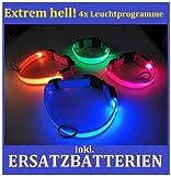 FARBIG LED Halsband / Hundehalsband / Leuchthalsband - Farben