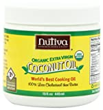 Nutiva Organic Extra Virgin Coconut Oil, 15-Ounce Tubs...